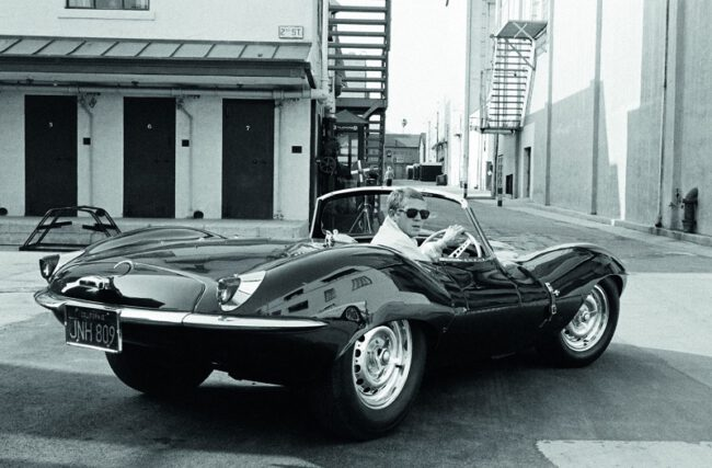 steve mcqueen jaguar car