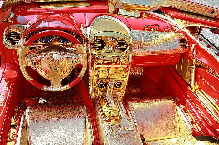 Most Expensive Mercedes Cars List - SLR McLaren 999 Red Gold Dream